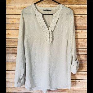 Zac & Rachel Brand sheer blouse